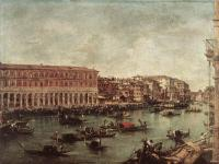 Francesco Guardi : The Grand Canal at th Fish Market Pescheria