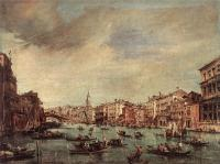Francesco Guardi : The Grand Canal Looking toward the Rialto Bridge
