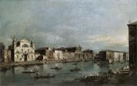 Francesco Guardi : The Grand Canal with Santa Lucia and the Scalzi