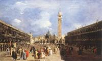 Francesco Guardi : The Piazza San Marco towards the Basilica