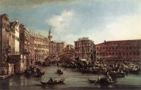 Francesco Guardi : The Rialto Bridge with the Palazzo dei Camerlenghi