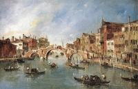 Francesco Guardi : The Three Arched Bridge at Cannaregio