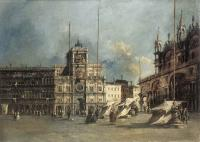 Francesco Guardi : The Torre del Orologio
