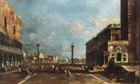 Francesco Guardi : View of Piazzetta San Marco towards the San Giogio Maggiore