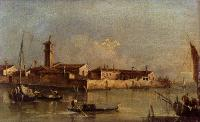 Francesco Guardi : View Of The Island Of San Michele Near Murano Venice
