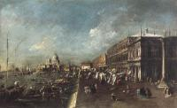 Francesco Guardi : View of the Molo towards the Santa Maria della Salute