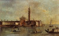 Francesco Guardi : View Of The Island Of San Giorgio In Alga Venice
