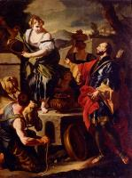 Francesco Solimena : Rebecca And Eliezer At The Well