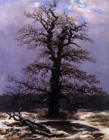 Caspar David Friedrich : Oak In The Snow