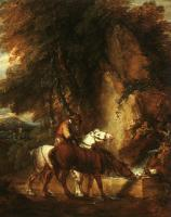 Thomas Gainsborough : Wooded Landscape with Mounted Drover