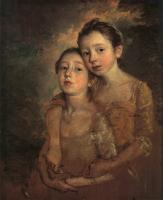 Thomas Gainsborough : The Artist's Daughters with a Cat