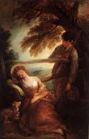 Thomas Gainsborough : Haymaker and Sleeping Girl (Mushroom Girl)