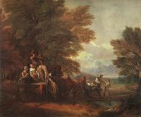 Thomas Gainsborough : the harvest wagon