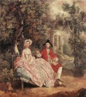 Thomas Gainsborough : Conversation in a Park
