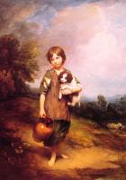 Thomas Gainsborough : Cottage Girl with Dog and Pitcher