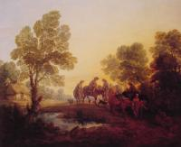 Thomas Gainsborough : Evening Landscape
