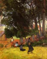 Paul Gauguin : Tahitian Village
