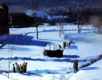 George Wesley Bellows : Blue Snow The Battery