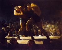 George Wesley Bellows : Club Night aka Stag Night at Sharkey's