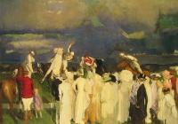 George Wesley Bellows : Polo Crowd
