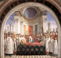Domenico Ghirlandaio : Obsequies of St Fina