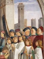 Domenico Ghirlandaio : Obsequies of St Fina detail