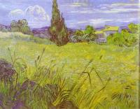 Vincent Van Gogh : Green Wheat Field with Cypress, Saint-Remy