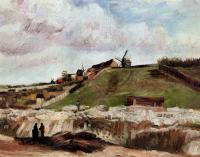 Vincent Van Gogh : Montmartre: the Quarry and Windmills II