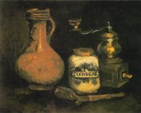Vincent Van Gogh : Still Life with a Bearded-Man Jar and Coffee Mill