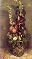Vincent Van Gogh : Vase of Hollyhocks
