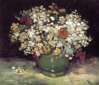 Vincent Van Gogh : Vase of wild flowers