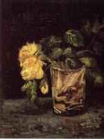 Vincent Van Gogh : Glass with Roses