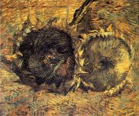 Vincent Van Gogh : Two Cut Sunflowers