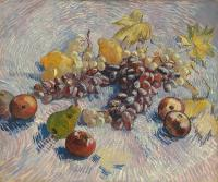Vincent Van Gogh : Blue and White Grapes,Apple,Pears and Lemons