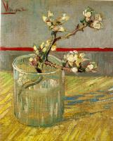 Vincent Van Gogh : Blossoming Almond Branch in a Glass