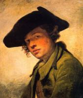 Jean-Baptiste Greuze : A Young Man in a Hat