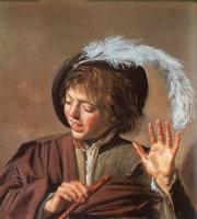 Frans Hals : Singing Boy with a Flute