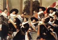 Frans Hals : Banquet Of The Officers Of The St George Civic Guard Company