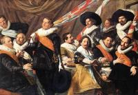 Frans Hals : Banquet Of The Officers Of The St George Civic Guard Company II