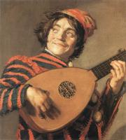 Frans Hals : Buffoon Playing a Lute