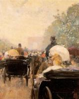 Childe Hassam : Carriage Parade