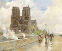 Childe Hassam : Notre Dame Cathedral