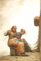 Winslow Homer : Mending the Nets
