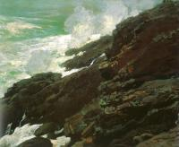 Winslow Homer : High Cliff, Coast of Maine