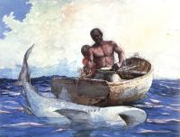 Winslow Homer : Shark Fishing