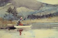 Winslow Homer : A Quiet Pool on a Sunny Day