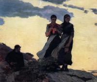 Winslow Homer : Early Evening aka Sailors Take Warning