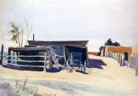Edward Hopper : Adobes And Shed New Mexico