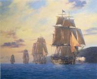 Geoff Hunt : HMS Agamemnon-Nelson s first flagship leads the squadron, Mediterranean, 1796