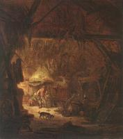 Isack Van Ostade : Interior Of A Peasant House